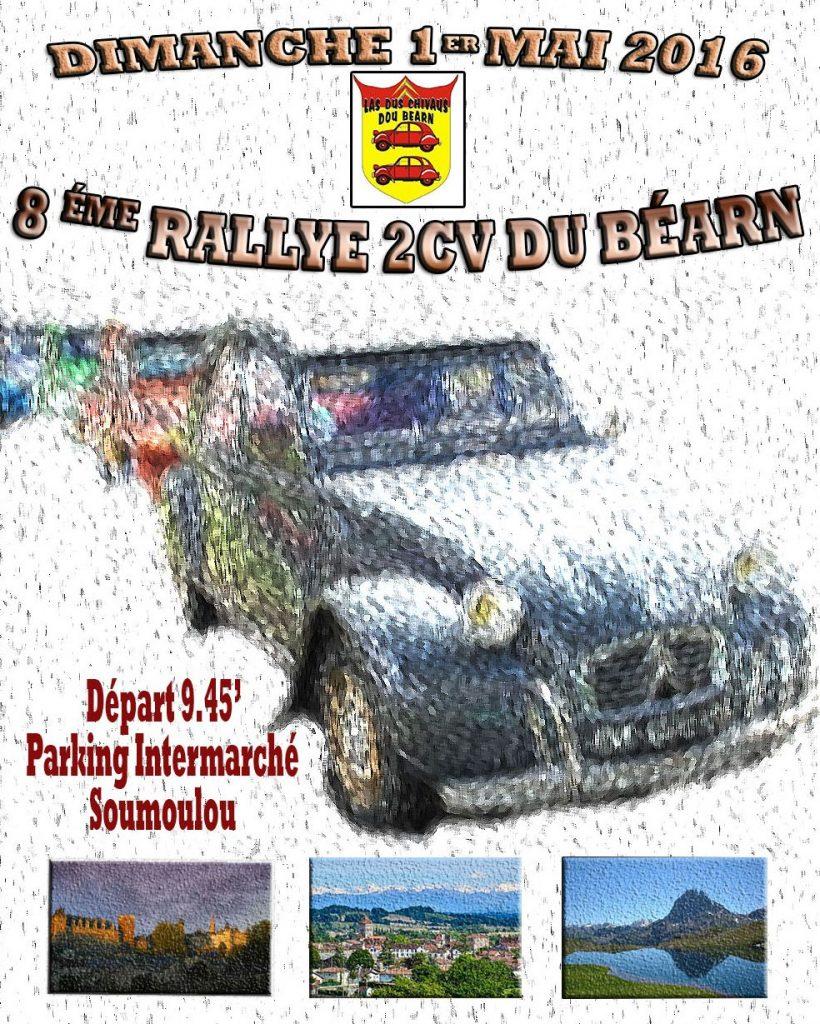 Rallye 2CV du Béarn 1er mai 2016